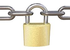Padlock and Chains. Royalty Free Stock Photo