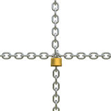 Padlock and chains Royalty Free Stock Photo