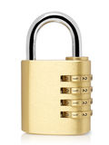 Padlock with cipher Stock Photography