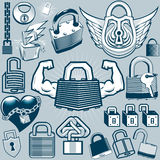 Padlock Collection Stock Images