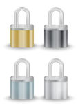 Padlock collection Royalty Free Stock Image