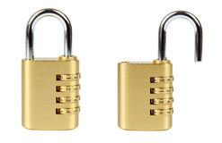 Padlock with combination code Stock Photo