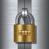 Padlock with combination code Royalty Free Stock Photo
