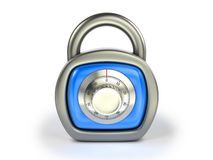Padlock with combination lock Royalty Free Stock Photos