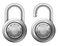 Padlock with combination lock wheel Stock Photography
