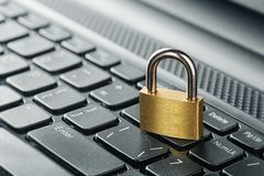 Padlock on computer keyboard. Network Security, data security and antivirus protection PC. Padlock on computer keyboard. Network Security, data security Royalty Free Stock Image