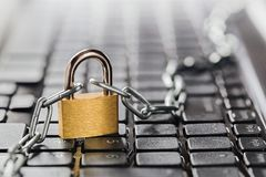 Padlock on computer keyboard. Network Security, data security and antivirus protection PC. Padlock on computer keyboard. Network Security, data security and Stock Images