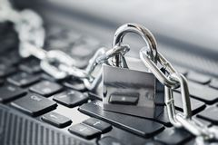 Padlock on computer keyboard. Network Security, data security and antivirus protection PC. Padlock on computer keyboard. Network Security, data security Royalty Free Stock Images