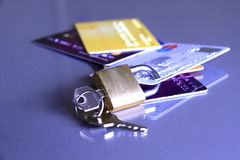 Padlock and credit card 1 Royalty Free Stock Image