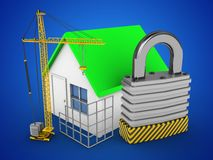 padlock 3d royaltyfri illustrationer