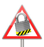 The padlock. 3d generated picture of a padlock sign royalty free illustration