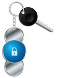 Padlock design keyholder Royalty Free Stock Photo