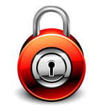 Padlock detailed icon Stock Images