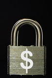 Padlock with Dollar symbol Stock Image