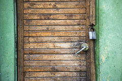 Padlock door Stock Photo