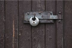 Padlock At Door Royalty Free Stock Images