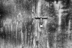 Padlock on door Royalty Free Stock Photo