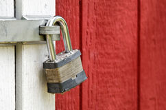 Padlock on the door Stock Images