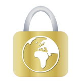 Padlock for earth Stock Images