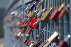 Padlock - for ever together - true love Stock Photo
