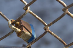 Padlock fence Stock Photo