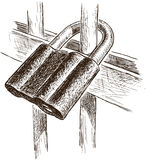 The padlock on a fencing Stock Image