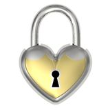 Padlock in the form of heart Stock Photos