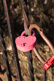 Padlock in the form of heart. Padlock in the shape of heart as a symbol of eternal love stock images
