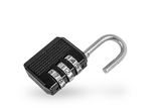 Padlock with security code. Padlock with four digit security code Stock Image