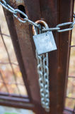 Padlock on a gate Stock Photos
