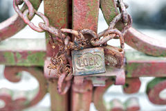 Padlock on Gate Stock Images