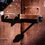 Padlock and  gate Stock Image