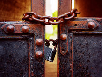 Padlock and gate Royalty Free Stock Image