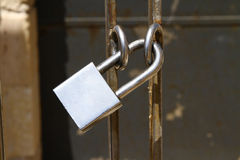 Padlock on gate Royalty Free Stock Photography