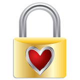 Padlock with heart Royalty Free Stock Photography
