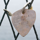 Padlock with a heart-shaped locket. Royalty Free Stock Image