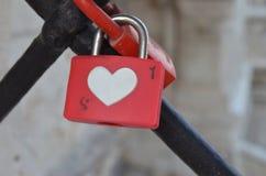 Padlock heart Stock Photo