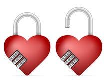 Padlock heart Stock Image