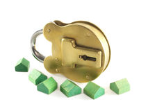 Padlock and home Royalty Free Stock Photo