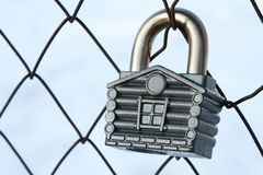 Padlock house Royalty Free Stock Images