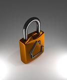 Padlock with house shape Stock Image