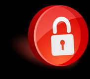 Padlock Icon. Royalty Free Stock Images