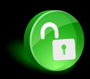 Padlock Icon. Stock Photo