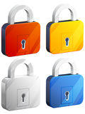 Padlock icon Royalty Free Stock Images