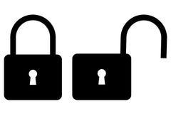 Padlock icon, Stock Image