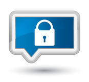 Padlock icon prime blue banner button Royalty Free Stock Image