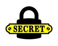Padlock icon with secret badge Royalty Free Stock Photos