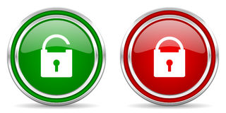 Lock And Unlock Button Royalty Free Stock Photography - Image