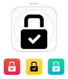 Padlock icon. Vector illustration. This is file of EPS10 format Stock Image