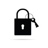 Padlock icon vector Stock Images